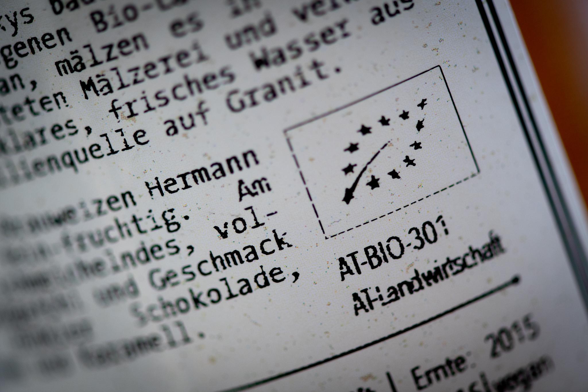 Das EU Bio-Zeichen garantiert das Arbeiten nach biologischen Richtlinien