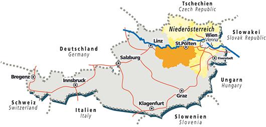 Landkarte Mostviertel