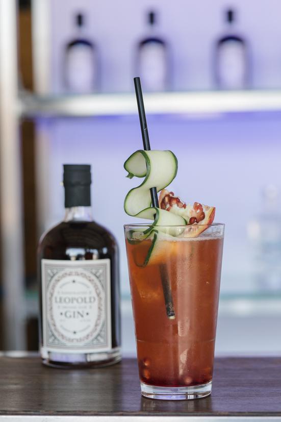 Foto Cocktail mit Leopold Sloe Gin von Bernhard Moser