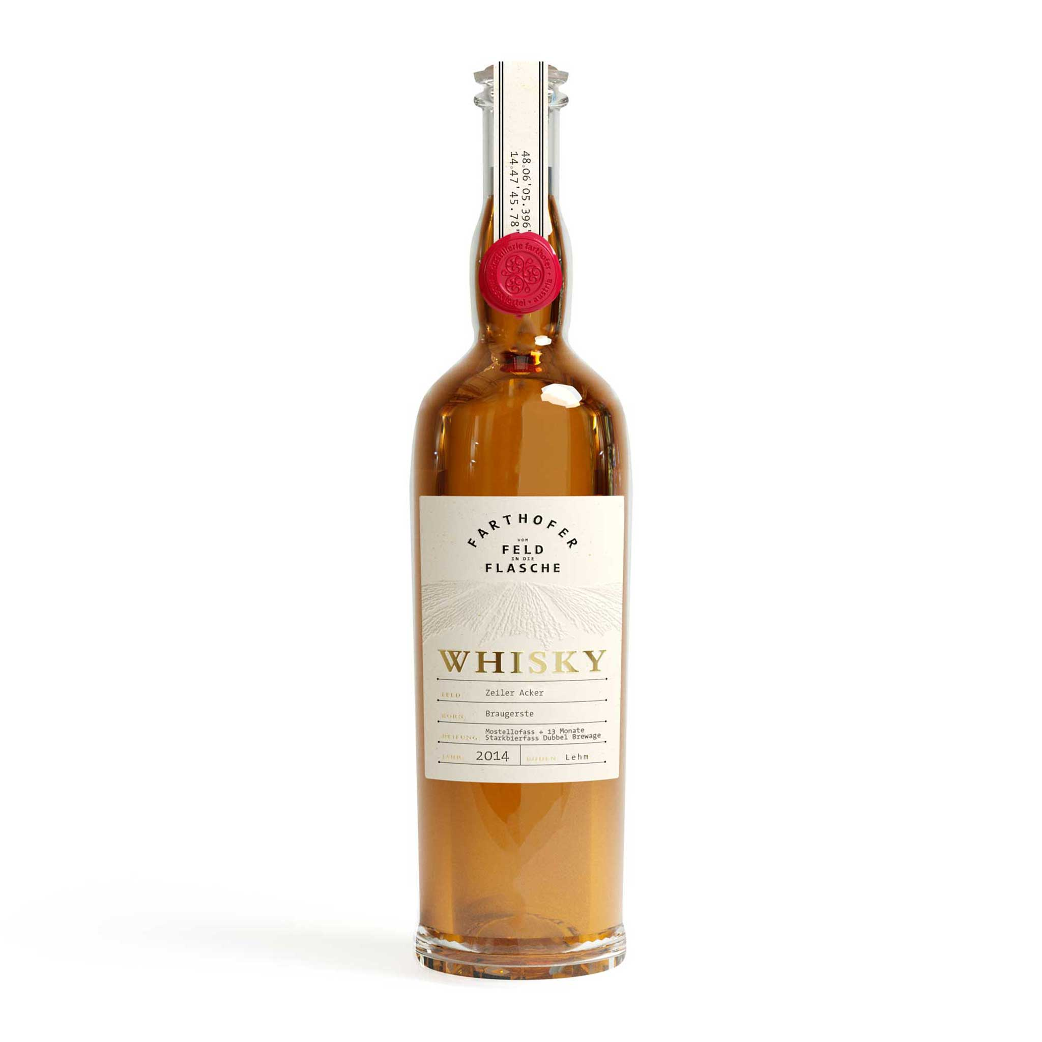 Produktfoto Whisky Braugerste 2014 Mostellofass Starkbierfass (40 % vol) - Destillerie Farthofer