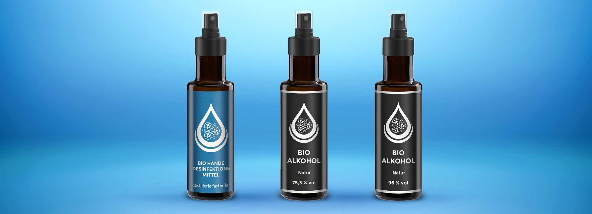 Bio Händedesinfektionsmittel & Bio Alkohol (Destillerie Farthofer)