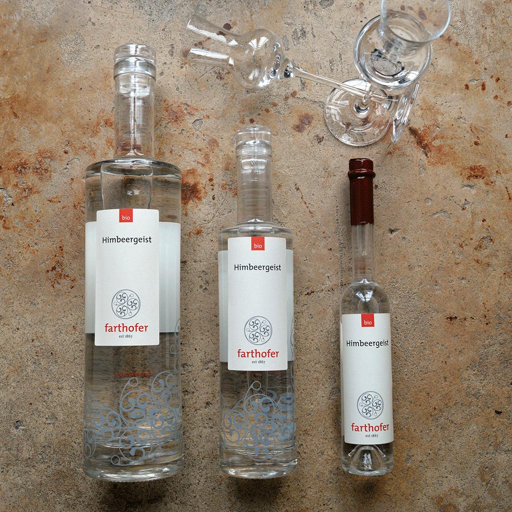 Bio Waldhimbeergeist (700, 350 und 100 ml) - Destillerie Farthofer