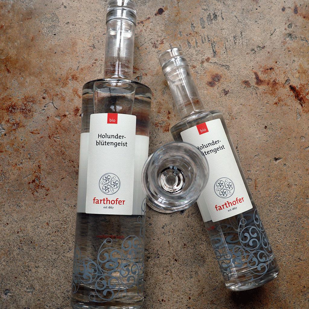 Bio Holunderblütengeist (700 und 350 ml) - Destillerie Farthofer