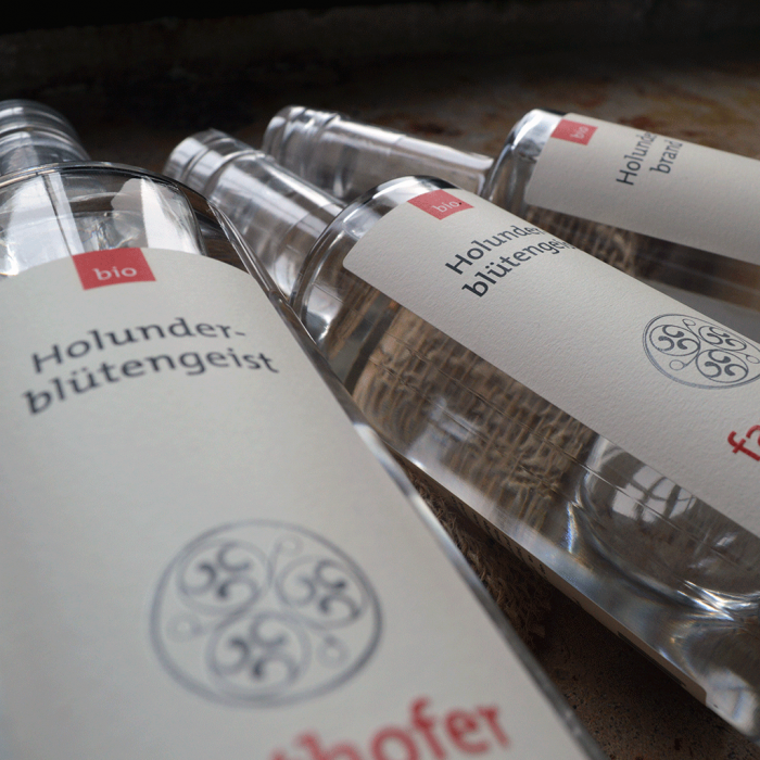 Bio Holunderbrand und Holundergeist (700 und 350ml) - Destillerie Farthofer