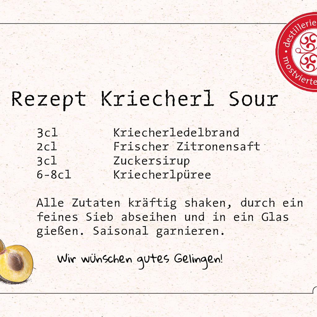 Cocktail-Rezept Kriecherl Sour - Destillerie Farthofer