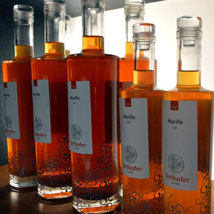 Bio Marillenlikör (700 und 350 ml) - Destillerie Farthofer