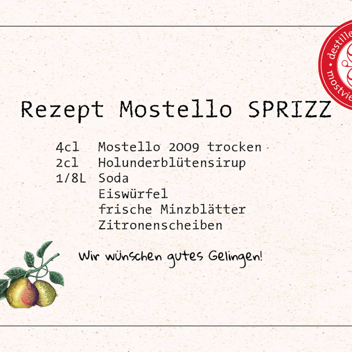 Cocktail-Rezept Mostello Sprizz - Destillerie Farthofer