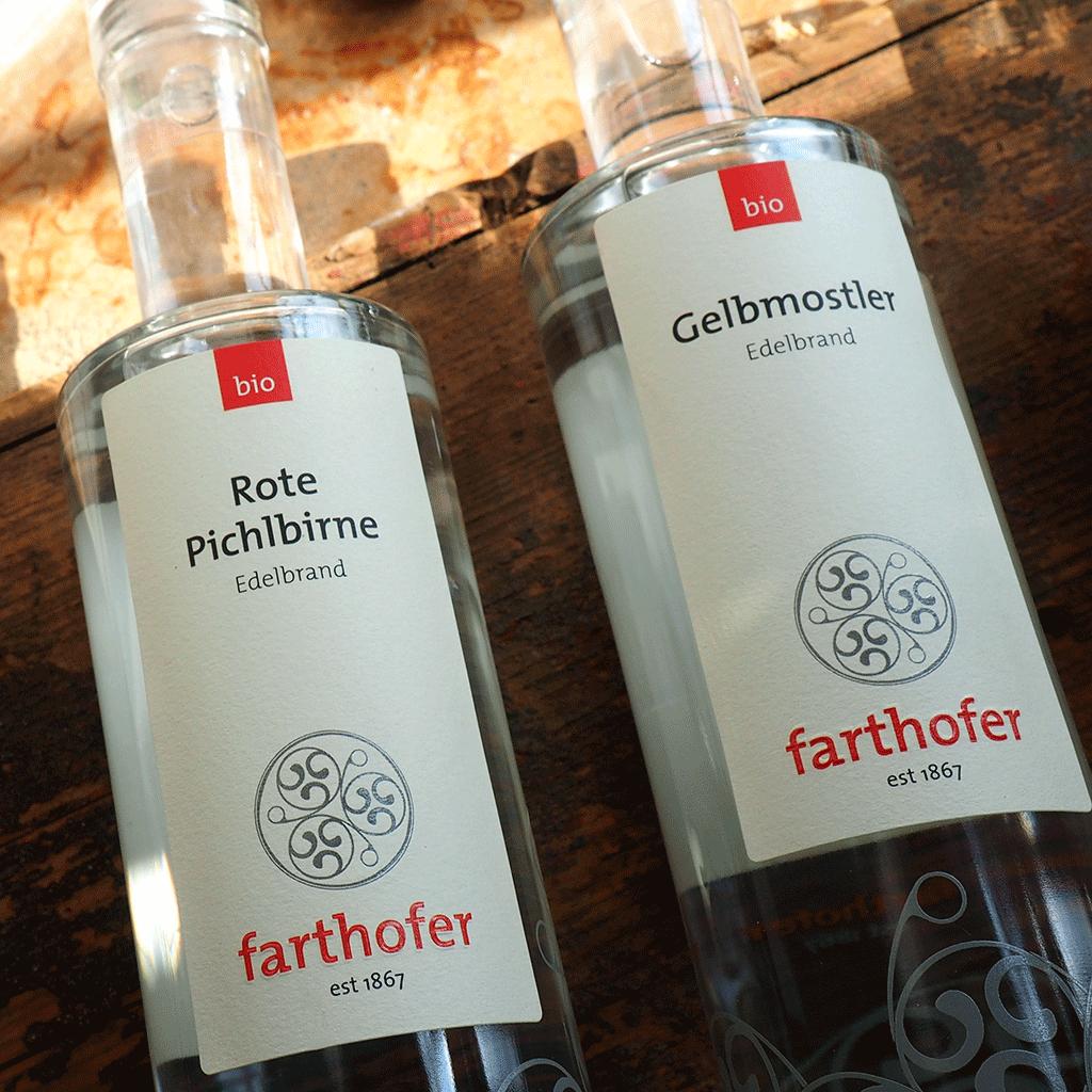 Bio Rote Pichlbirne und Bio Gelbmostler - Destillerie Farthofer
