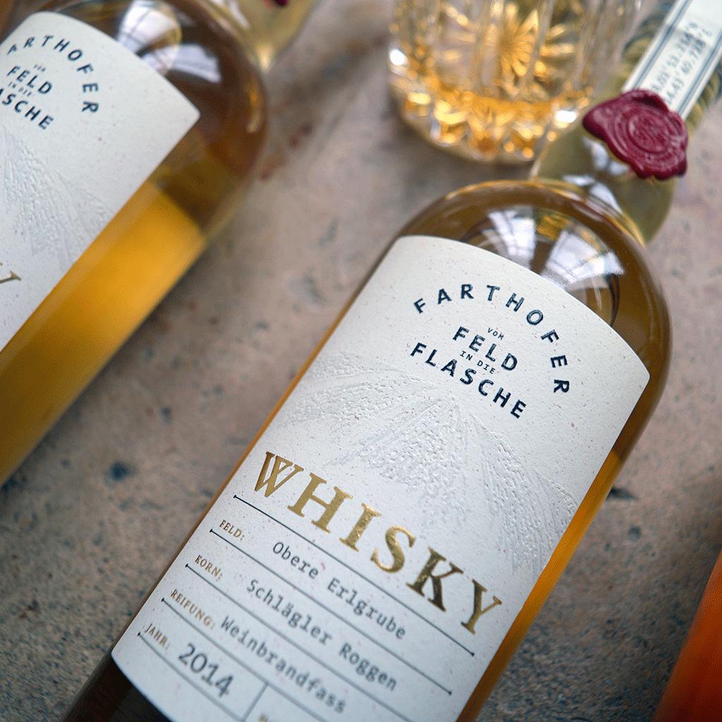 Schlaegler Roggen Whisky 40 % mit Glas - Destillerie Farthofer