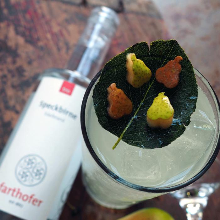 Bio Speckbirne (350 ml) mit Cocktail - Destillerie Farthofer