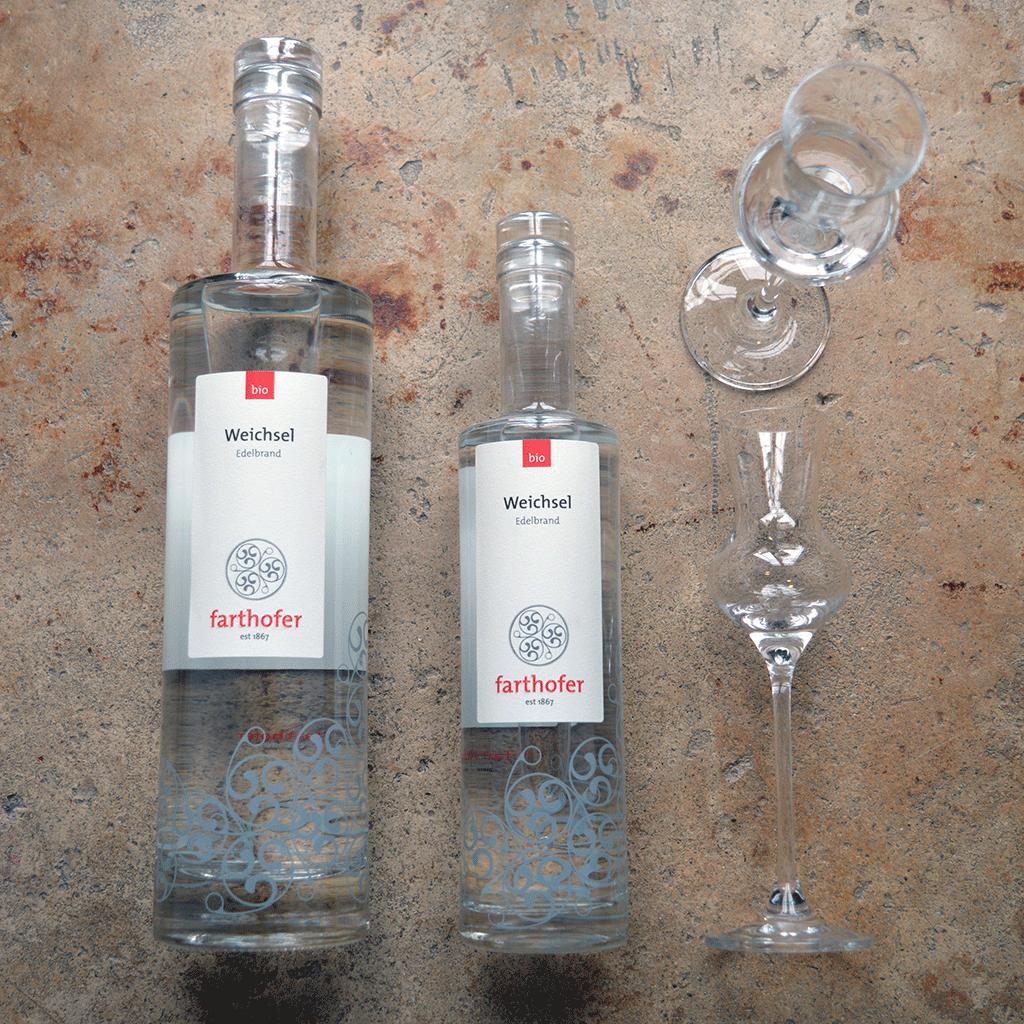 Bio Weichselbrand (700 und 350 ml) - Destillerie Farthofer