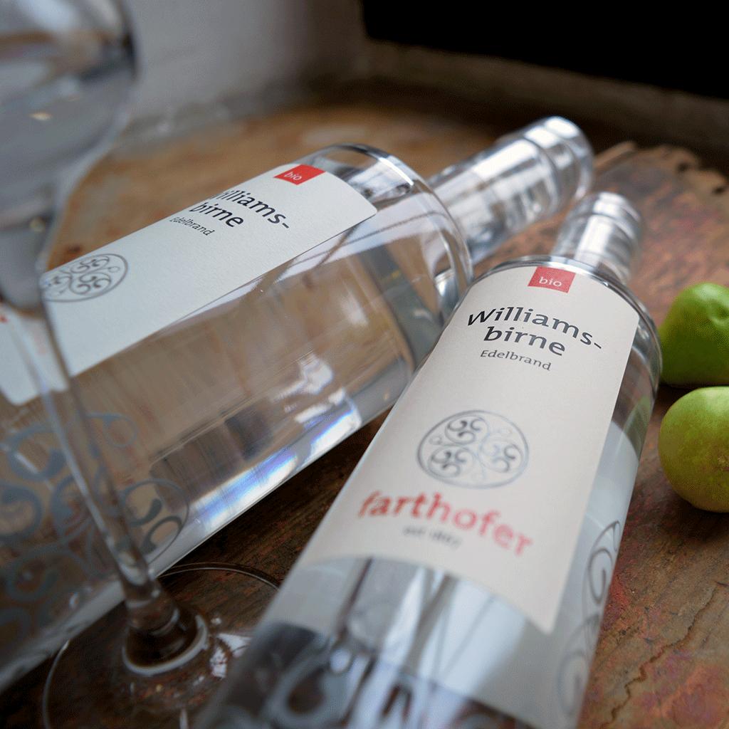 Bio Williamsbirne (700 und 350 ml) - Destillerie Farthofer
